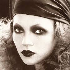 Kate Moss made up to look like a Biba girl